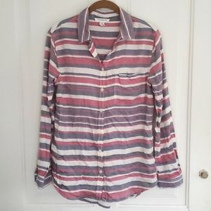 BeachLunchLounge Button Up Striped Top